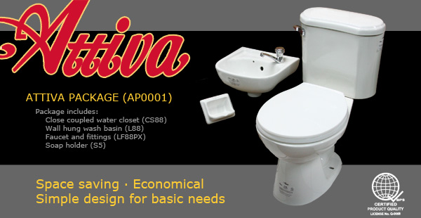 Recto Builders Supply Attiva Waterclosets